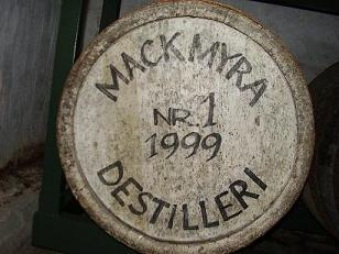 Mackmyra barrel number one. Photograph © Christofer Psilander 2005. Not for commersial use.